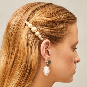 *SOLD* Tory Burch Logo Pearl Hair Clip